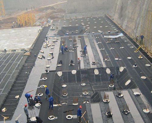 基坑防水施工现场